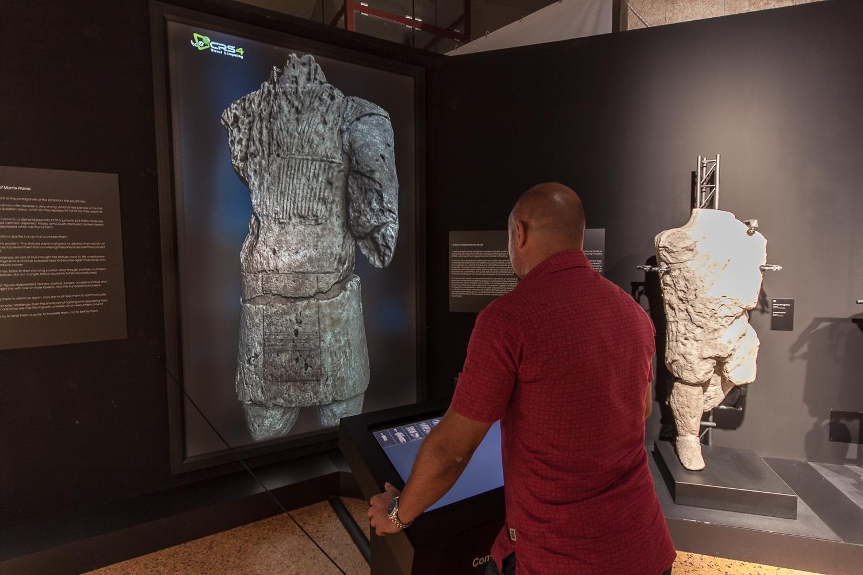 Esplorazione 3D delle statue di Mont'e Prama al Museo Archeologico Nazionale di Cagliari